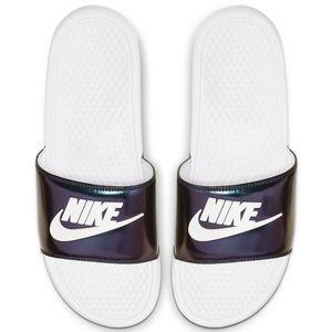 Nike benassi jdi se slides 14 white green purple
